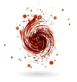 Red waves background vector image