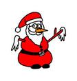 santa claus snowman doodle hand vector image