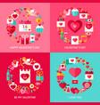 valentine day concepts set vector image
