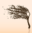 Wind and tree vector image