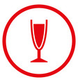 wine glass rounded icon vector image
