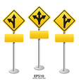 Signs straight vector image