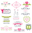 Wedding Set of design elements vector image vector image