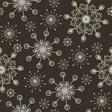 hand draw snow flakes seamles patern 2 vector image vector image