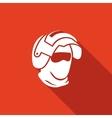 Riot helmet icon Army Special Forces head vector image