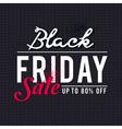 Black friday sale banner on knitwear background vector image