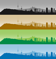 Barcelona Skyline Profiles vector image