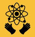 atomic icon vector image
