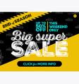 big super sale banner design vector image