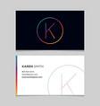 business-card-letter-k vector image
