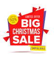 christmas sale special offer banner sale vector image