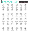 human mind identity features thin line web icons vector image