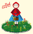 Little Red Riding Hood childrens card vector image