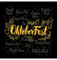 Oktoberfest Gold Lettering vector image