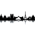 Paris cityscape vector image