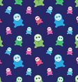 Seamless kids monsters - colorful background vector image