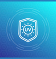 uv protection line icon symbol vector image