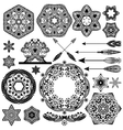 Vintage objects for your retro design Set vector image