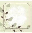 Retro styled background with brown leaves vector image