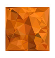 Dark Orange Carrot Abstract Low Polygon Background vector image