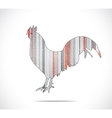 Abstract colorful rooster vector image vector image