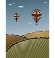 uk hot air balloons vector image