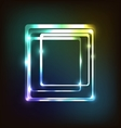 Abstract colorful with rounded rectangle vector image vector image