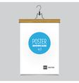 poster pants hanger wood vector image vector image