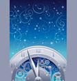 vintage clock elements on color background - vector image