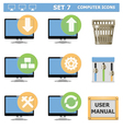Computer Icons Set 7 vector image vector image