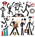 businessman in various poses - cartoons vector image