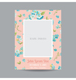 Baby Arrival or Shower Card - with Photo Frame vector image vector image