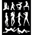 girls poses vector image