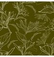 floral vintage pattern vector image vector image