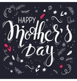 hand drawn mothers day lettering with vector image vector image