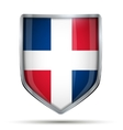 Shield with flag Dominican Republic vector image