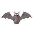 Cute cartoon bat vector image