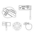direction signs and other web icon in outline vector image