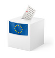 election in european union ballot box with vector image