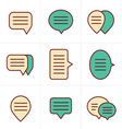 Icons Style Speech bubble icon set vector image