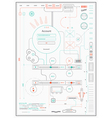 infographics drawing a schematic abstraction vector image