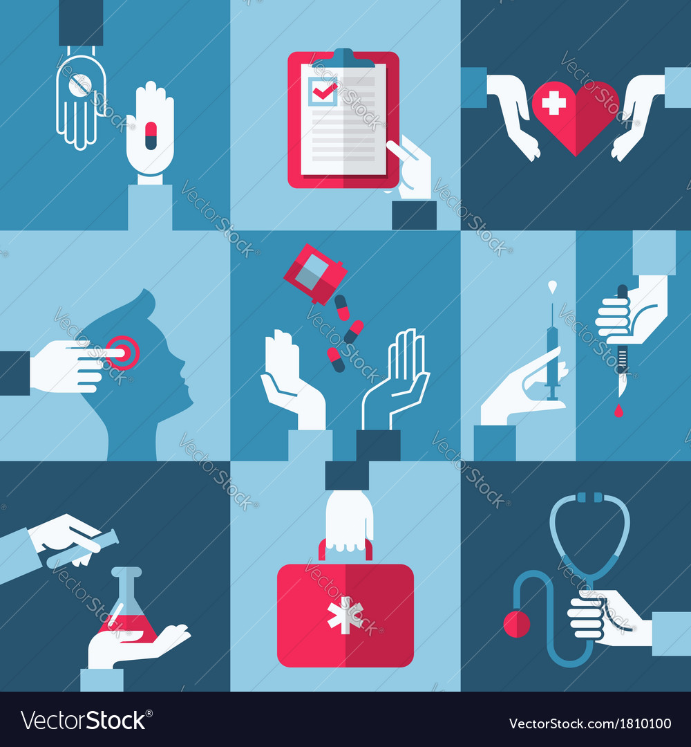 Medical and pharmaceutical design elements vector