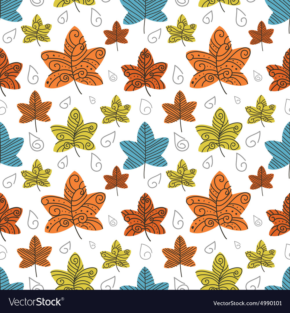 Autumn leafs background eps10 vector