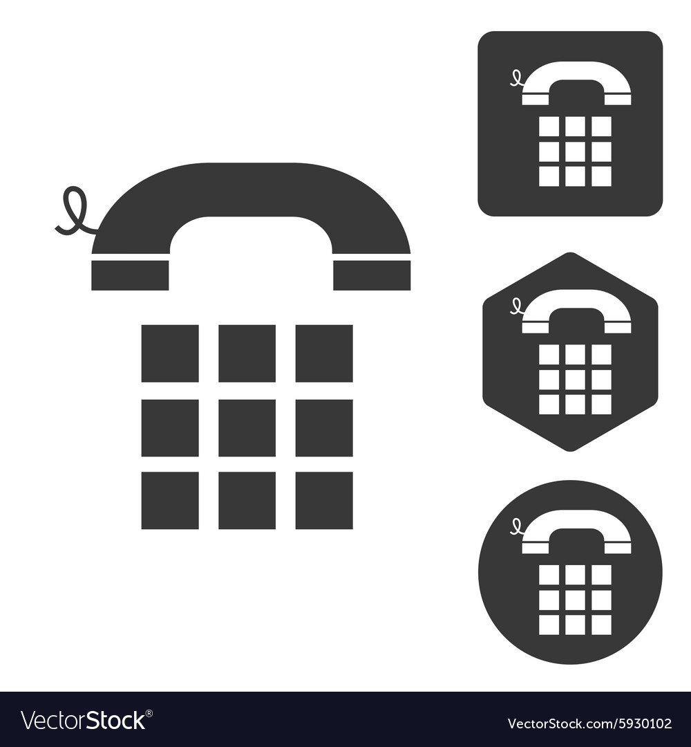 Cellphone icon set monochrome vector