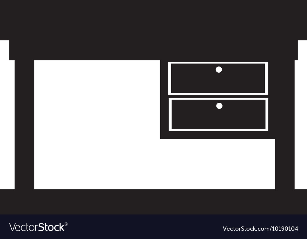 Desk furniture office supplies icon graphic vector
