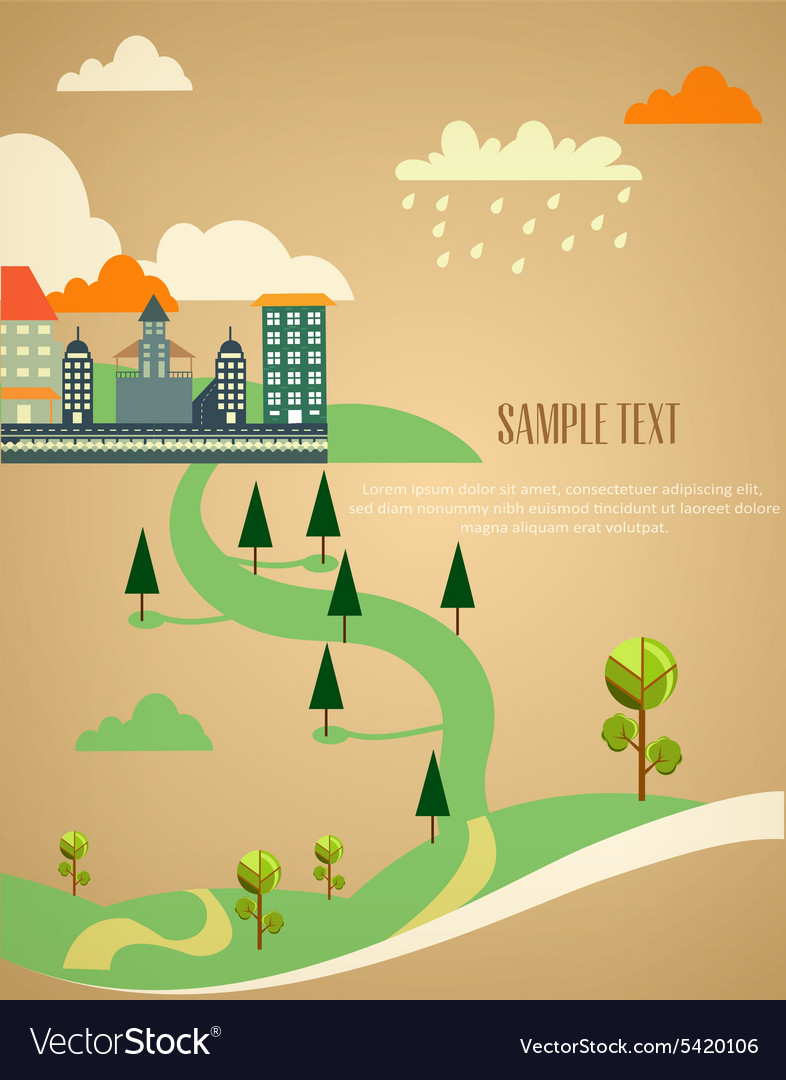 City stylized with buildings vector