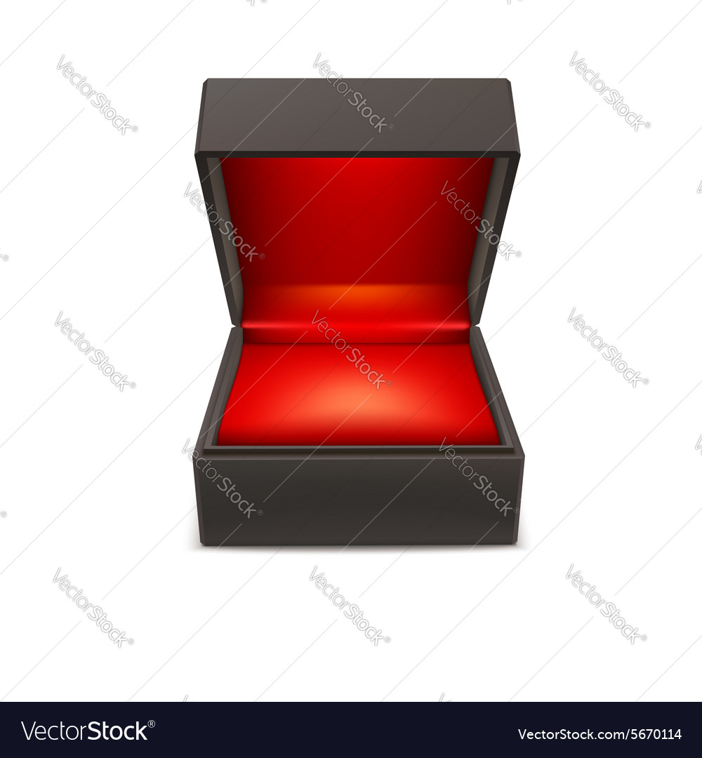 Product gift jewelry box vector