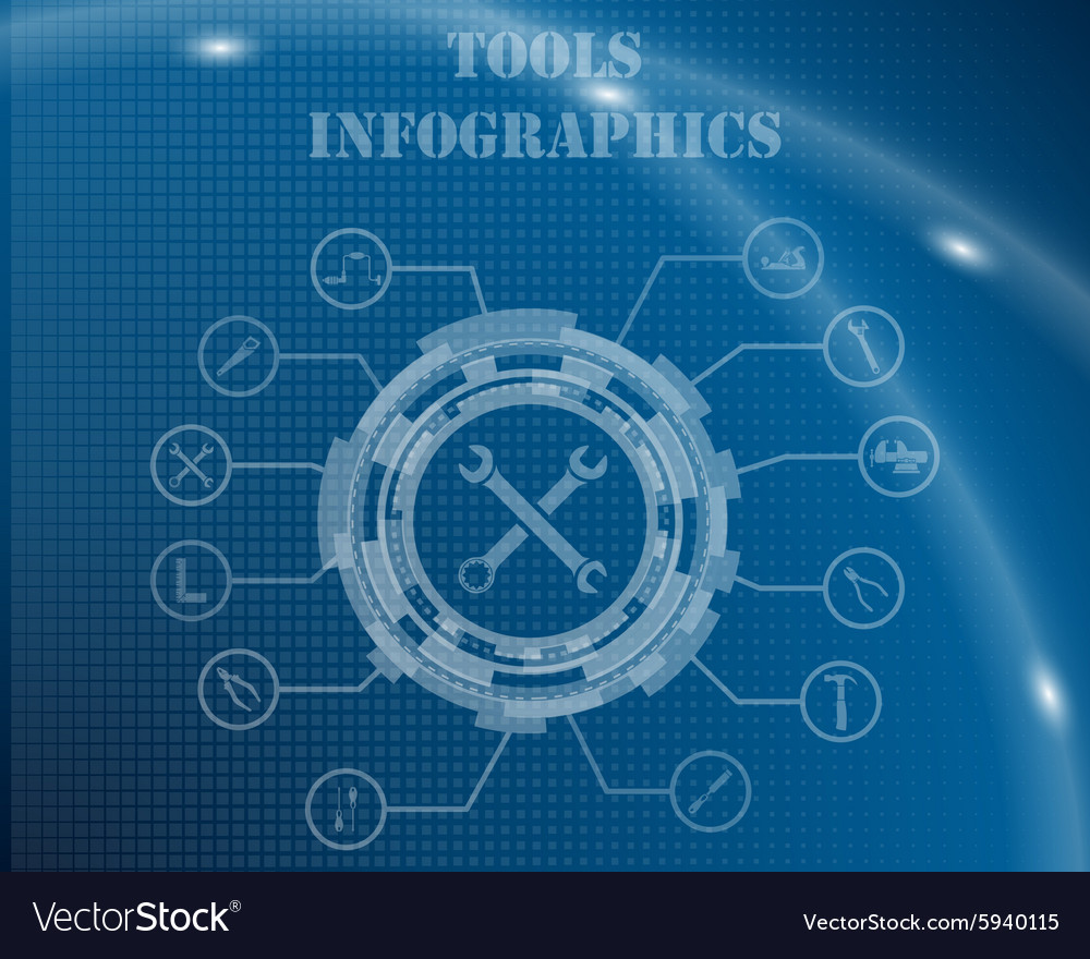 Tools infographic template vector