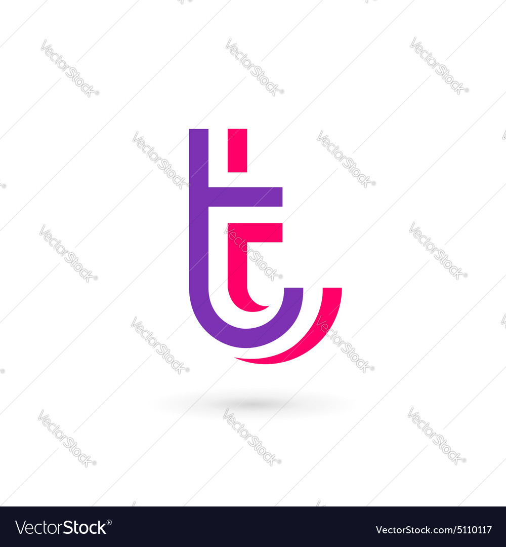 Letter t logo icon design template elements vector
