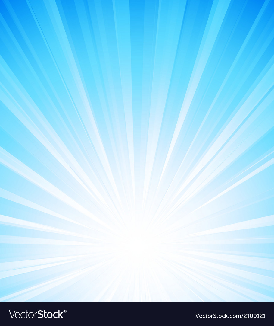 Blue summer sun light burst vector
